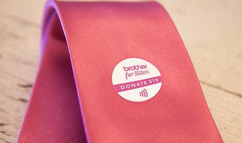brother pink tie