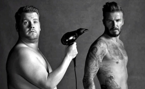 david beckham james corden spoof ad � the stable