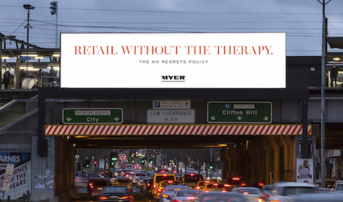 Myer No Regrets Policy Clemenger 2