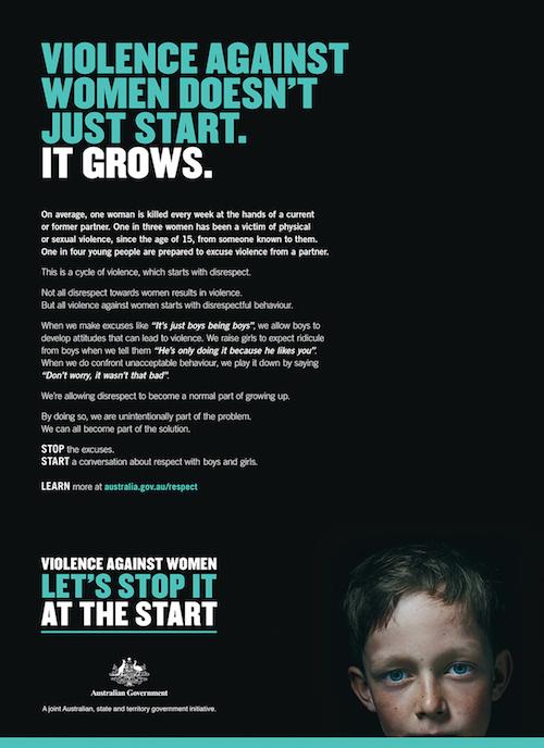 BMF domestic violence print ad 2